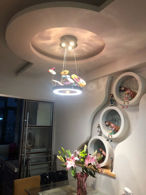 Nordic Modern Chandelier Creative Circular Pendant Agate Light Living Room Bedroom Study LED Lamp Modern Personality Chandeliers