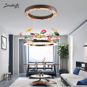 Nordic Pendant Lamp Creative Circular Pendant Light Agate Living Room Bedroom Study Led Lamp Modern Personality Pendant Lights