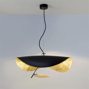 Nordic Postmodern UFO Shape Chandelier Lighting Italy Designer Hanglamp Living Room Lustre Gold Metal Restaurant LED Luminaria