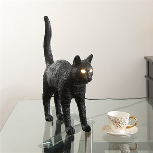 Nordic SELETTI Resin Cat Night Light Table Lamps Italy Bedroom Animal LED Desk Lamp Led Stand Light Fixture Home Decor Lighting