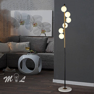 Nordic Simple LED Floor Lamps Glass Ball Standing Lamps Gold Light Living Room Bedroom Creative Art Home Decor Lighting Fixtures