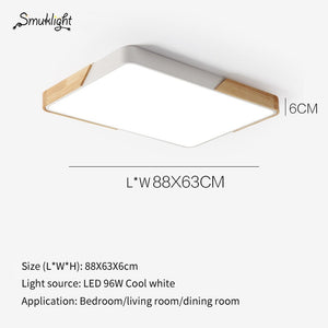 Nordic Simple Modern Wood Ceiling Lamp Ultra Thin LED Ceiling Light Bedroom Living Room Kitchen Aisle Study Balcony Lamp