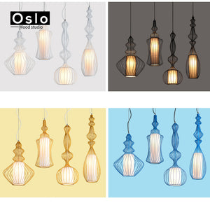 Nordic Vintage Bird Cage Pendant Lights Kitchen Dining Room Ceiling Deco Fixture Lighting Pendant Lamps Lampara De La Vendimia