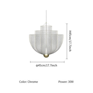 Nordic Living Room Pendant Lamp Personality Restaurant Bedroom Lamp Modern Minimalist Net Cage Chandelier Fashion Dining Lamps