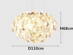 Post Modern Acrylic Brief Pendant Light D6070110cm Clear PVC Blade Suspension Lamp Dining Room Cafe Shop Acryl Hanging Lamp