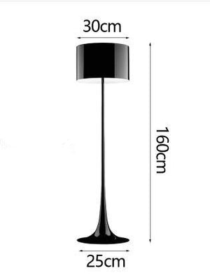Post Modern Bedroom Floor Lamp 65'' White Black Stand Lamp Living Room Shop Cafe Bar Office Iron Floor Light Luminaire Fixture