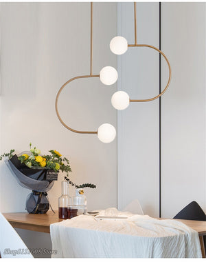 Post Modern Bubble Chandelier Lighting Nordic Lustre Branching Chandeliers LED Designer Hanglamp Living Room Kitchen Luminaria