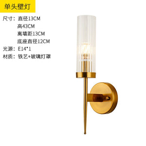 Post Modern Gold Wall Lamp Led Wall Lights Glass Lampshade Sconce For Bedroom Kitchen Stair Wall Lights For Home Decor Fixtures