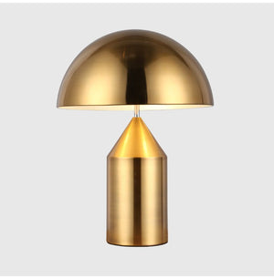 Post Modern Mushroom Desk Lamp Gold Iron Lamp LED Table Lamps For Living Room Studyroom Shades Stand Fixtures Study Luminaire