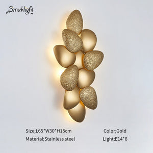 Postmodern American Creative Simple Wall Lamp Golden Light Luxury Villa Living Room Aisle Model Room Wall Lamp Wall Sconce Lamp