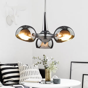 Postmodern Chandelier Lighting Nordic Designer Area Glass Hanging Lamps Living Dining Room Decor Suspension Lighting Fixtures