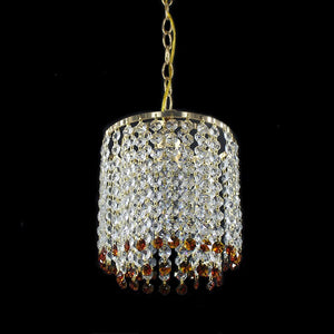 Retro Iron Crystal Luster Chandeliers Ceiling American Style Chandelier Lighting Modern E27 LED Lamp For Living Room Bar Bedroom