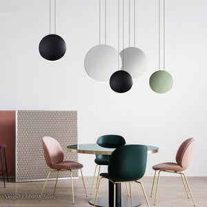Scandinavian Modern Pendant Lights Minimalist Living Room Dining Room Pendant Lamp Bar Creative Crescent Light Lighting Fixtures