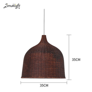 Southeast Asia Style Household Rattan Chandelier Simple Innovative Individual Shop Garment Shop Balcony Tea House Engineer Lamp