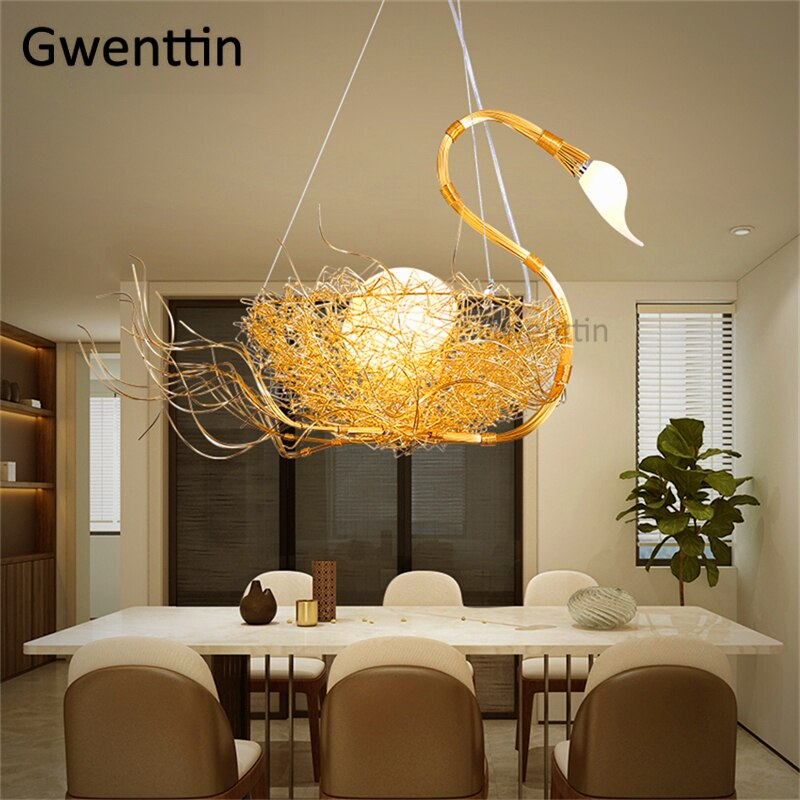 Swan Pendant Lights Home Art Decor Hanging Lamps Dining Room Bedroom H Lighting Essential,What Color Should I Paint My Ceiling
