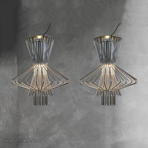 Vintage Foscarini Allegro Ritmico Hanging Pendant Lights Led Cage Industrial Suspension Lamp Bar Luminaire Home Decor Fixtures