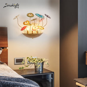 Wall Mounted LED Wall Lamps Metal Rod Comno With Agate Accessory Hotel Passageway Luxury Classical Deco LED Wall Lights