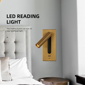 Led Sconces Lamp Home Hotel Bedroom Bed Headboard Reading Wall Lighting DC 5V 2A USB Charger Port CREE Led Book Lights