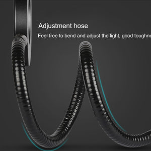 Flexible LED Desk Lamp Beside Reading Book Lights USB Power 5 Speed Dimmable Control Clip LED Desk Lamps Book Lampada