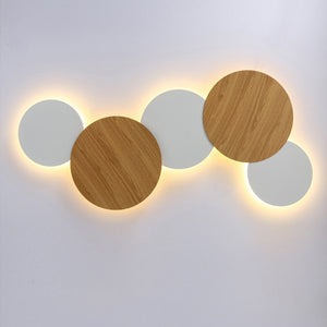 Indoor LED Wall Lamp Living Room Decoration Wall Light Home Lighting Fixture Loft Stair Light RoundSquare Aluminum Lamp