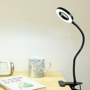 Led Lamp Clip Reading Light USB Power Black Flexible Hose Table Desk Book Headboard Study LED Light Clip Dimmable Bright
