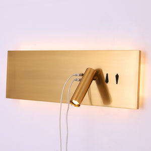 Led Wall Light USB Wireless Wall Sconces Lamp Night Reading Lights Hotel Loft Home Headboard Reading Led Fixtures