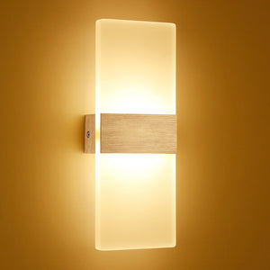 Modern Led Wall Light Fixtures Staircase Lighting Bedside Lamp 2700K Warm White Bedside Wall Lamp Bathroom Mirror Lights