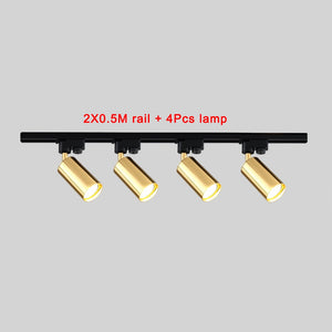 Track Light Rail Spot LED Ceiling Spotlight Clothes Shoes Shop Store Showroom Mall Exhibition Fixture Tracking Lamp
