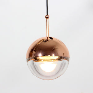 Hanging Pendant Lights Crystal Glass Nordic Bar Cafe Bubble Ball Pendant Lamps Rose Gold Dining Room Deco LED Lighting