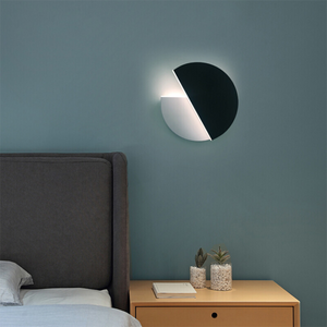 Modern Led Nightlight Bedroom Living Room Porch Aisle Wall Decoration Led Lighting Night Lamp Moon Rotating Led Fixtures