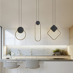 Novelty Modern Led Pendant Light 220v Black White Simple Style Nordic Led Lamp Ceiling Home Decor Creative Hanging Lamps