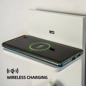 Wireless Charger Usb Wall Lamp Bed Side Reading Lamp Headboard Wall Light IPhone Sumsung HUAWEI Wireless Charging