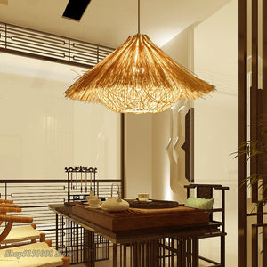 Bird Light Modelling Pendant Lights Hand Woven Rattan Pendant Lamp Hanging Lamps Restaurant Bedroom Light Fixture Home Decor