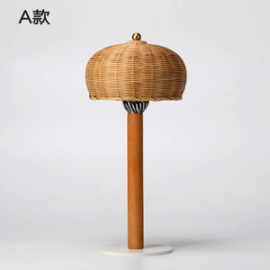 Hand Knitted Table Lamps Nordic Simple Creative For Bedroom Bedside Lamp Creative LED Decorative Table Lights Lighting Fixtures
