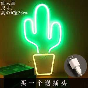 Modern Banana Shaped Neon Signs LED Night Lights Wall Decorative USB Lights Room Wall Kids Bedroom Birthday Gift Party Art Decor