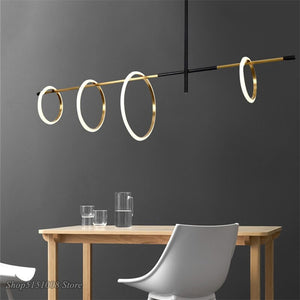 Modern LED Magnetic Attraction Pendant Lights Nordic Living Room Pendant Lamp Bedroom Ring Kitchen Hanginglamp Home Deco Fixture