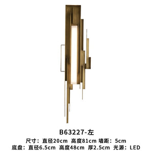 Modern LED Wall Light Light Luxury Nordic Living Room Wall Lamps Villa Hotel Designer Model Bedroom Sconce Lamp Light Fixtures