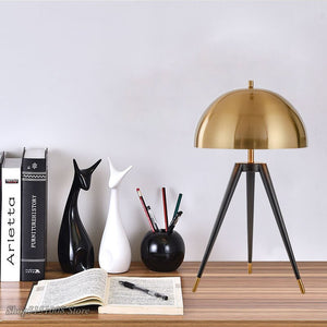 Modern Three Tripod Gold Table Lamp Italian Designer Lights Creative Office Led Floor Lamp Bedroom Bedside Home Decor Luminaire