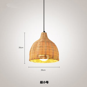 Chinese Handmade Rattan Weaving Pendant Lights Dinning Room Cafe Hanging Lamps Home Decor Bamboo Led Rattan Lamp Luminaria