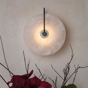 25cm Led Wall Lamp Marble Stone Wall Light Solf Light Bed Room Living Room Wall Art Decor Lamps Surface Mounted Sconces