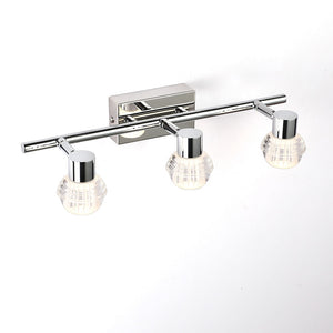 Bathroom Mirror Wall Lamp Stainless Steel Crystal Lamp Waterproof Bedroom Mirror Light 32cm 54cm 4000K Led Lighting
