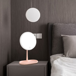 Makeup Mirror With LED Light 3 Modes Color Dimmable Daylight Vanity Mirror Detachable Storage Base Led Mirror Light