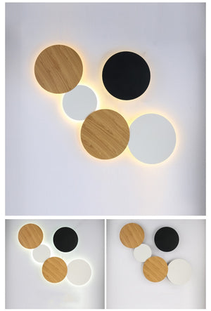 Diy Collocation Led Wall Lamp Fashion Led Wall Lighting 20cm 25cm 30cm 35cm Dinner Room Living Room Wall Decor Lamp