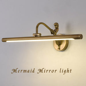 Europe Style Led Wall Light Pure Copper Wall Lamp 35cm 45cm 58cm 75cm 100cm Bathroom Light Bedroom Lamp Mounted Decor