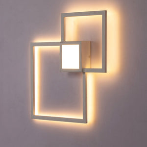 Led Novelty Light 20W 24W Black White DIY Wall Mounted Wall Light Bedroom Living Room Loft Art Decoration Led Lamps