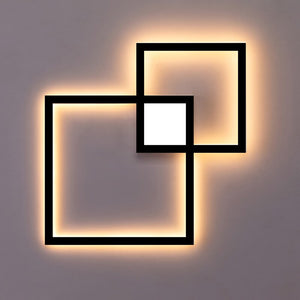 Led Wall Light Panel Black White Square DIY Combine Wall Decoration Lamp Bedside Living Room Mall Decor Lighting