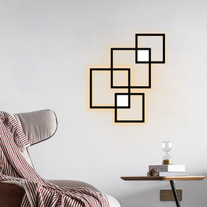 Remote Control Led Wall Light Fixture Living Room Dinner Room Bedroom Wall Decoration Led Lighting 24w 85-265v Sconces