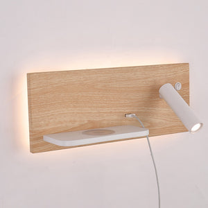 Wireless Charger Wall Lamp Modern Wireless Charging Wall Sconces Home Hotel Bedroom Headboard Book Reading Lighting