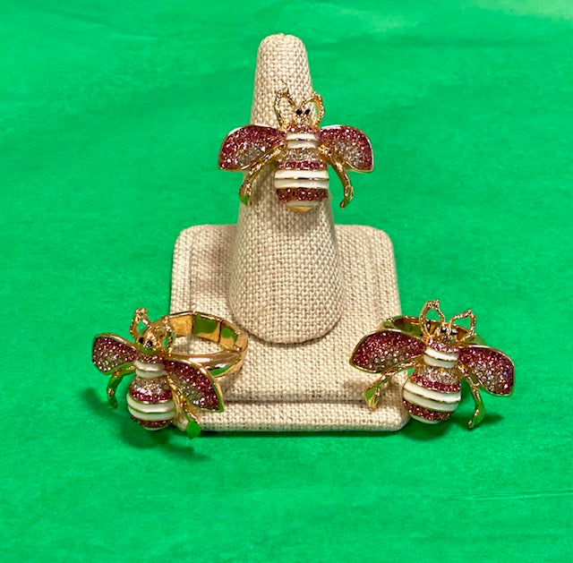 Gold Bee Ring with
