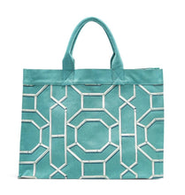 Load image into Gallery viewer, Geometric Canvas Tote Bag